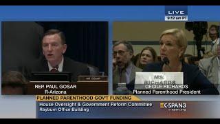 Rep. Paul Gosar Investigating Planned Parenthood