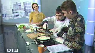 """Вкусные завтраки на """"УтроТВ"""": французский омлет с сыром и ветчиной (28.01.15)"""