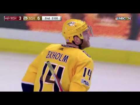 Mattias Ekholm Goal vs WSH November 12, 2017