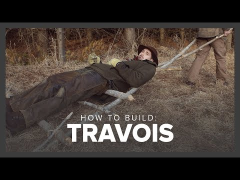 How to Build a Travois | Surviving in the Wild