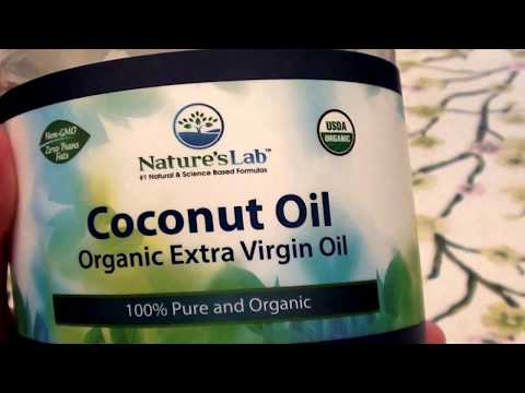 MY HAIR OIL OF CHOICE/ Nature's Lab Coconut Oil Organic Extra Virgin 100% Pure & Organic