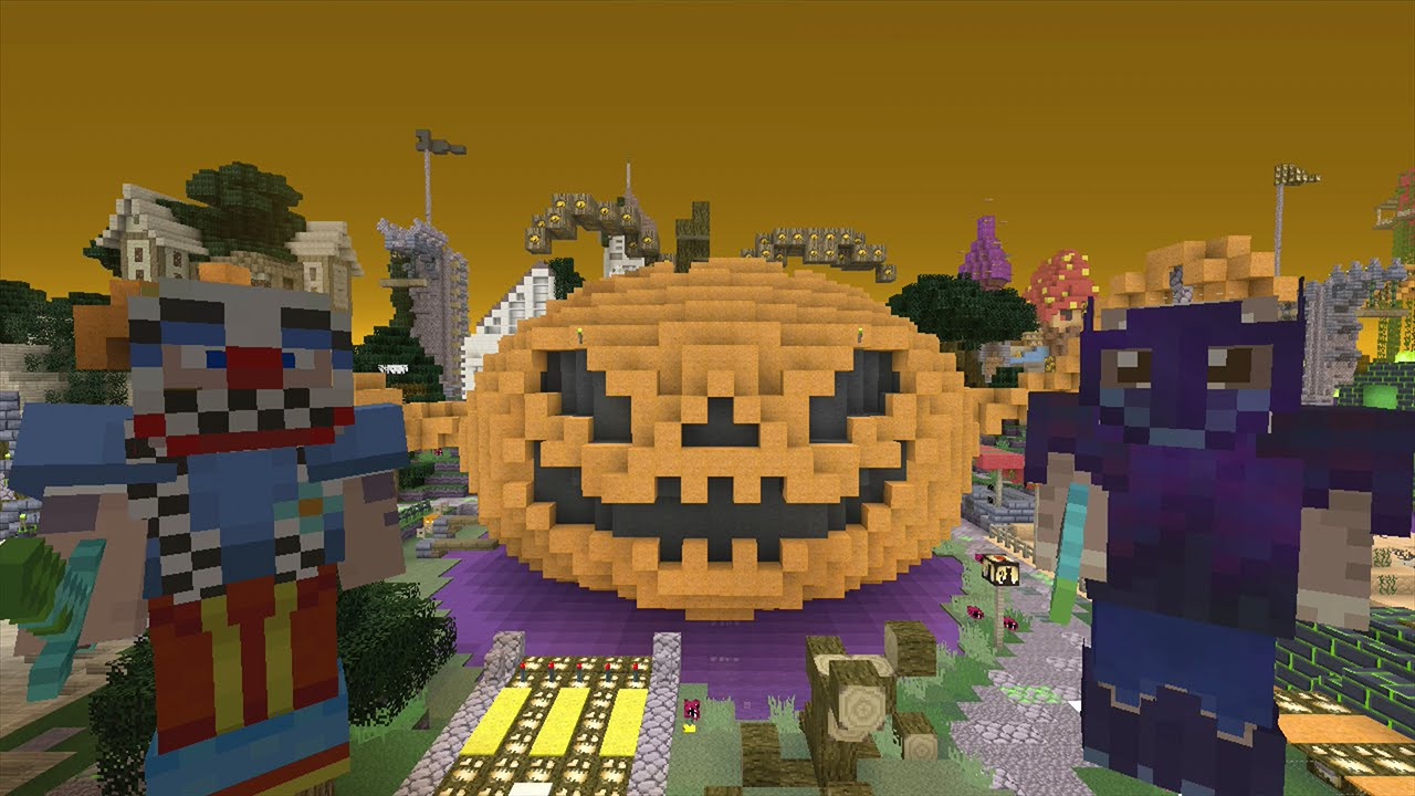 Minecraft Xbox Lets Play Survival Madness Adventures Halloween Special Pumpkin Boss 131