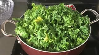 Америка : Кейл капуста жареная . Зелёные листья 🍃 Кейл очень полезные ! 🍃 новый рецепт !
