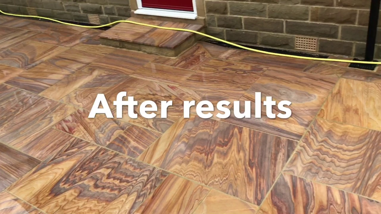 Natural Stone Patio Cleaning And Resiblock Sealing In Leeds (abetting.com)  01274 947000