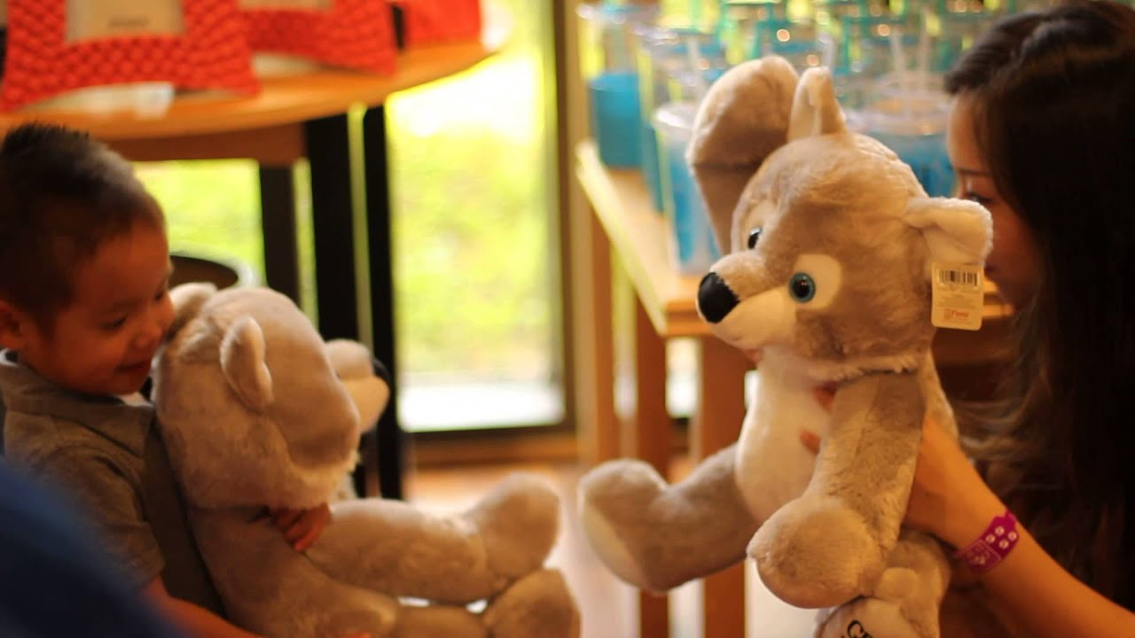 Cute Mom And Baby Boy Playing With Stuffed Animals Great Wolf Lodge