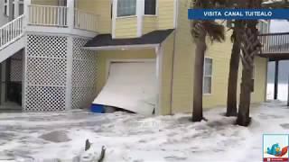 Huracán Florence azota Carolina del Norte con fuertes vuentos Video EN VIVO 2018