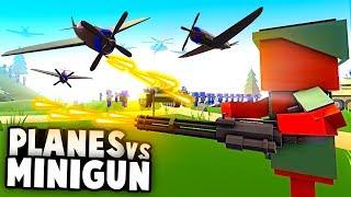 NEW World War 3 BATTLE! Minigun Soldier DESTROYS Plane Invasion! (Ancient Warfare 3 Gameplay)