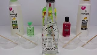 Su ile Slime!! 5 farklı tarif ile water slime!!! - Bidünya Oyuncak