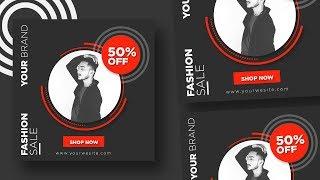 Brand promotion social media marketing banners design in illustrator cc