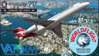 TFDi Boeing 717-200 - Sydney to Brisbane, WorldFlight 2017 first leg.