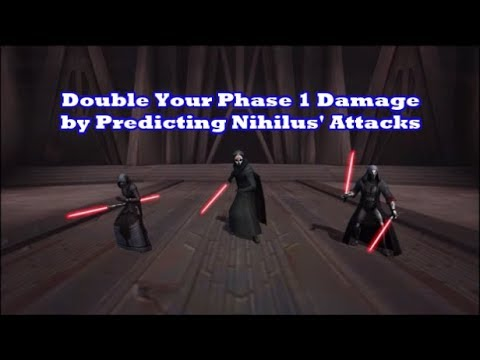 SWGOH // Sith Triumvirate Raid - Double Your Phase 1 Damage by Prediciting Nihilus' attacks