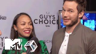 'Guardians of the Galaxy' Stars Chris Pratt & Zoe Saldana Talk About The Sequel   MTV News