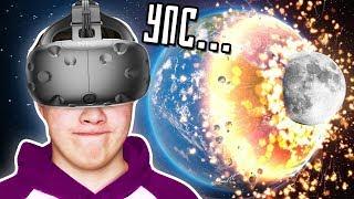 ЧТО БУДЕТ ЕСЛИ ЛУНА ВРЕЖЕТСЯ В ЗЕМЛЮ?! (HTC Vive) Sandbox 2 VR