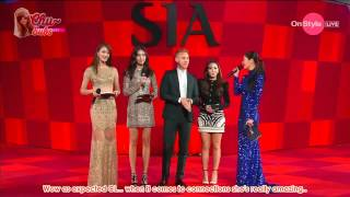 2ne1 cl   cl diplo style icon awards red carpet eng sub