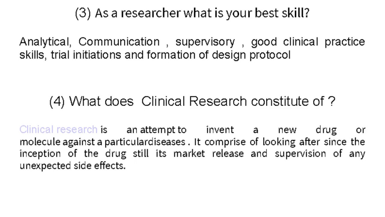 top 10 clinical research interview questions top 10 clinical research interview questions