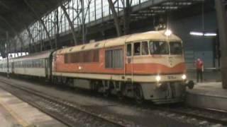 Lokomotiva řady T678 přezdívaná pomeranč   Locomotive dubbed T678 Orange