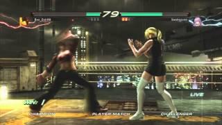 Tekken 6 - Nina vs Anna, Christie, Asuka