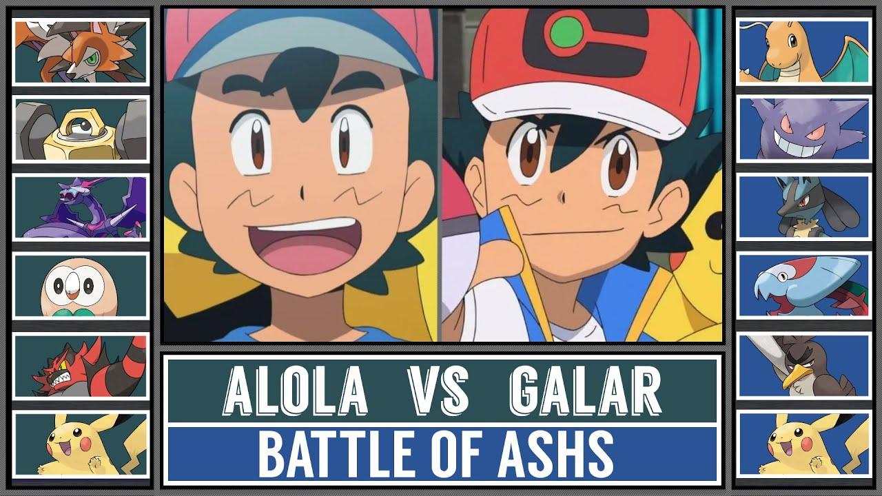 ALOLA ASH vs GALAR ASH