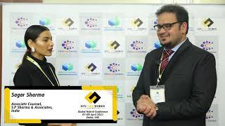 Mr. Sagar Sharma sharing his thoughts on the LexTalk World Conference, Dubai 2021