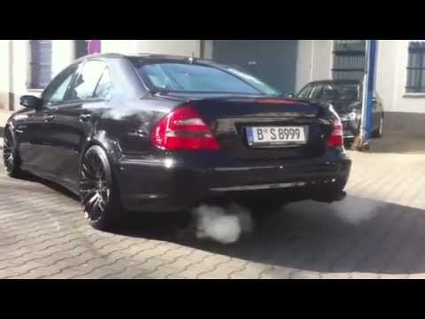 mercedes benz e55 amg w211 sportauspuff hammer so youtube. Black Bedroom Furniture Sets. Home Design Ideas
