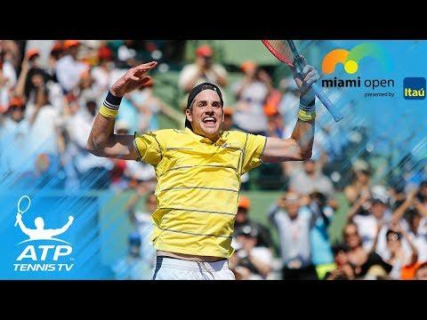John Isner Wins Miami Open 2018: Match Point & Celebration