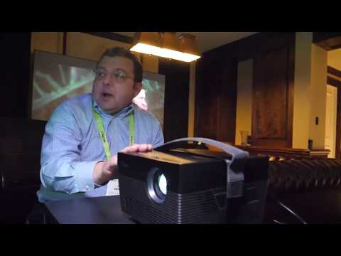 Optoma UHL55 4K LED Portable Projector review , unboxing , hands on