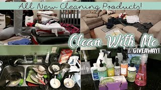 EXTREME CLEAN WITH ME | New Cleaning Products | After Dark Speed Cleaning 2018 | PLANNER GIVEAWAY!
