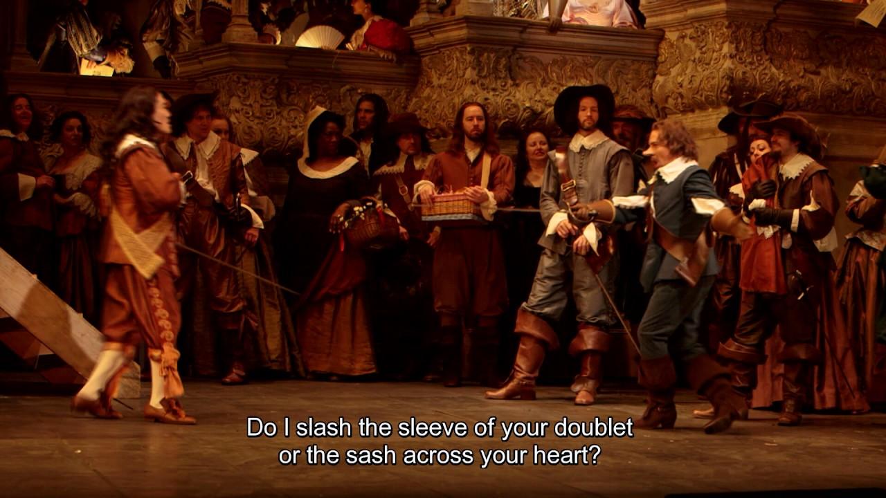 """Cyrano de Bergerac: """"Je jette avec grâce mon feutre"""""""