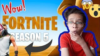 FORTNITE SAISON 5 / New map - Vehicle , combat pass.....