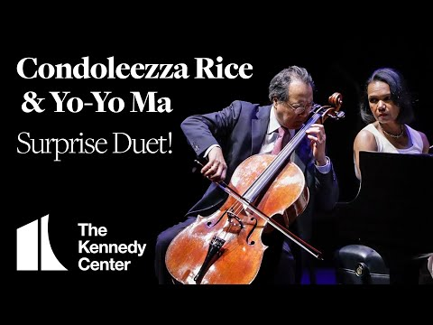 YoYo Ma and Condoleezza Rice Perform Surprise Duet at The Kennedy Center