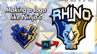 How to make a logo like NINJA - in Photoshop