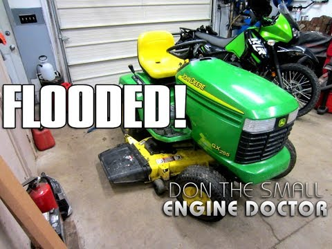 Why A John Deere Lawn Tractor Kept Flooding & Repair