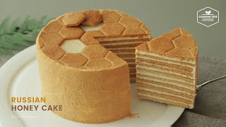 러시아 꿀 케이크🍯 메도빅 만들기 : Russian Honey Cake Medovik Recipe | Cooking tree