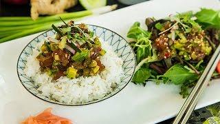 Recipe - Clara Young's Krazy Tuna Poke Recipe - Hallmark Channel