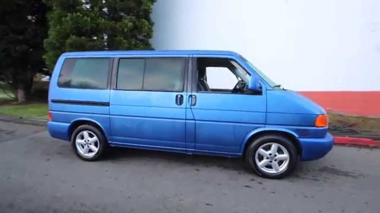 2003 Volkswagen Eurovan Mv Techno Blue Pearl 3h044097
