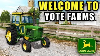 YOTE FARMS EQUIPMENT TOUR! | PURCHASING TRACTOR, COMBINES & PLANTERS | FARMING SIMULATOR 2017