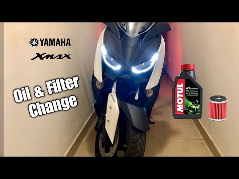How To Change Oil & Oil Filter On Yamaha Xmax 300