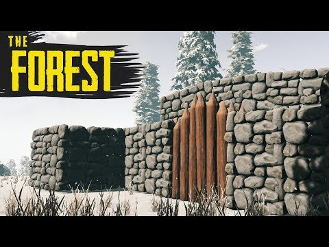 BUILDING THE WALLS! The Forest Hard Survival S3 Episode 24