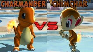Pokemon battle revolution - Charmander vs Chimchar
