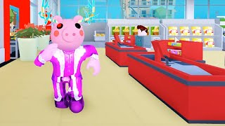 My Supermarket Shopping With Peppa Pig - Welcome to my DIY Supermarket - Roblox Part 2