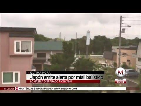 Corea del Norte lanza misil; cruzó el norte de Japón
