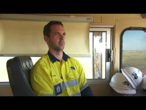 Driving a train in the mines with Fortescue Metals Group (FMG)