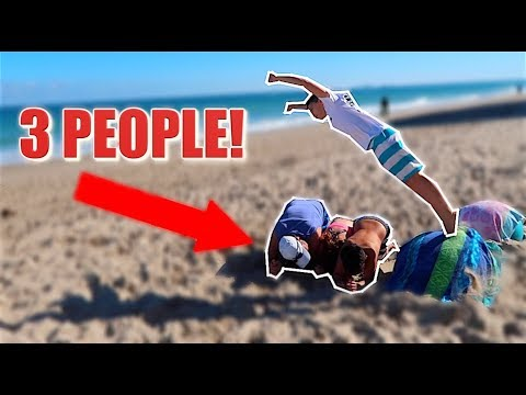 FLIPPING OVER PEOPLE ON THE BEACH *DANGER*