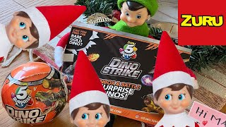 Zuru Dino Strike || Elf on the Shelf || 5 Surprise Toy!!