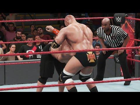 WWE 2K18 - Seth Rollins Vs Triple H Vs John Cena - Falls Count Anywhere Match Gameplay HD