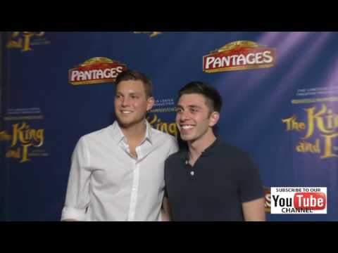 Brock Ciarlelli at the King And I  Night at The Pantages Theatre in Hollywood