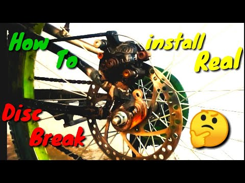 How to install rear Disk brake in any Bycycle step by step | Cheapest Disce Brake