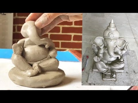 Ganesh Idol making process at home | Eco friendly Ganesha |ganpati making.