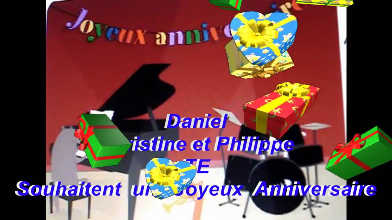 joyeux anniversaire daniel youtube. Black Bedroom Furniture Sets. Home Design Ideas