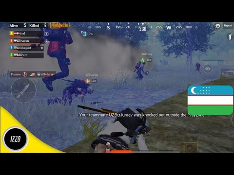 Uzbekistan Squad + Izzo | PUBG Mobile | Perfect Ending😎
